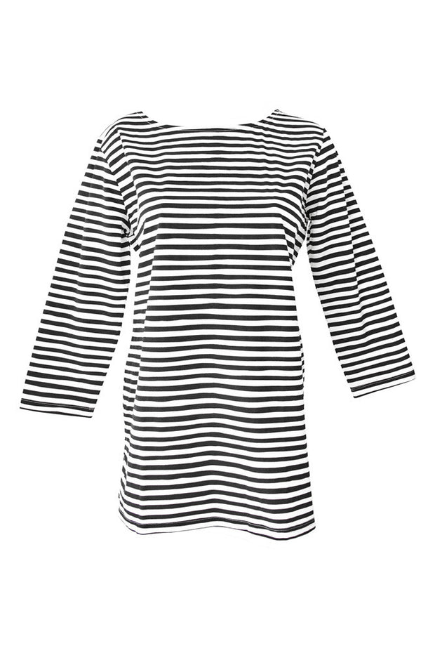 See Design See Design Karma Stripe Shirt Black/White - KIITOSlife