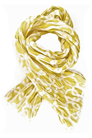 See Design Links Scarf Straw/White