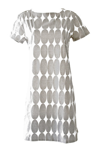 See Design Pods Dress Grey/White