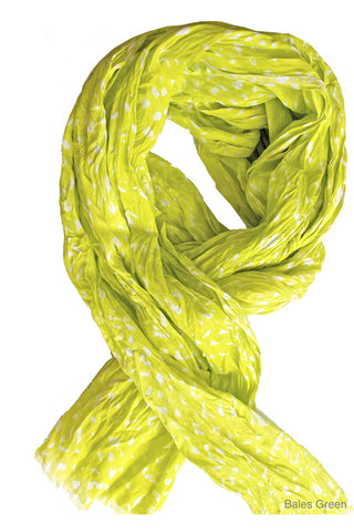 See Design Bales Scarf Green/White