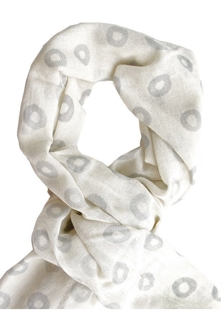 See Design Donut Scarf Grey/White
