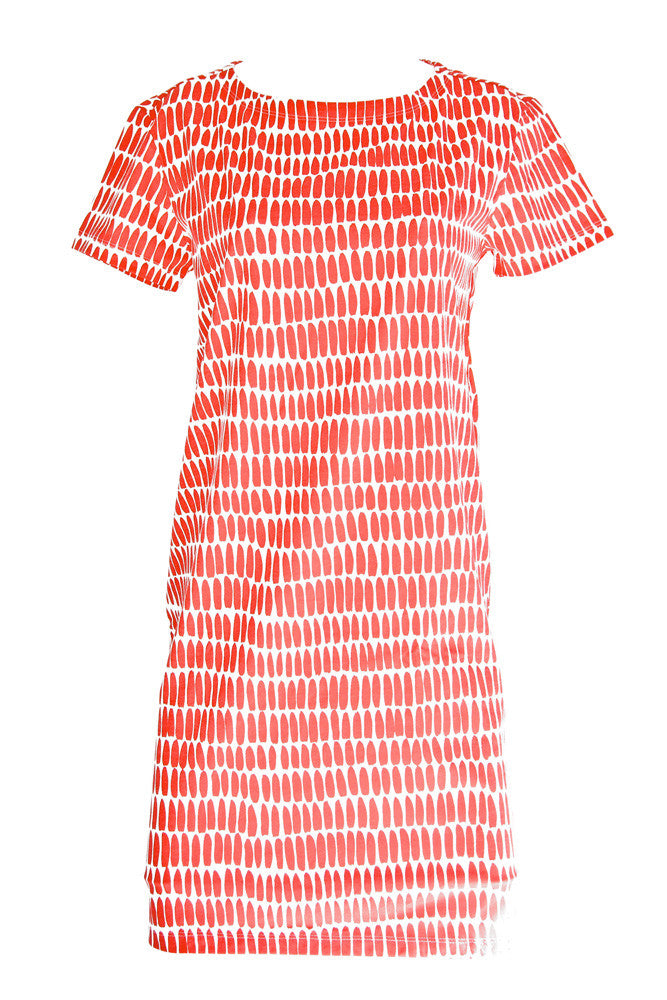See Design See Design Wall Dress Red/White - KIITOSlife