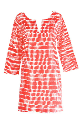See Design Wall Tunic Red/White