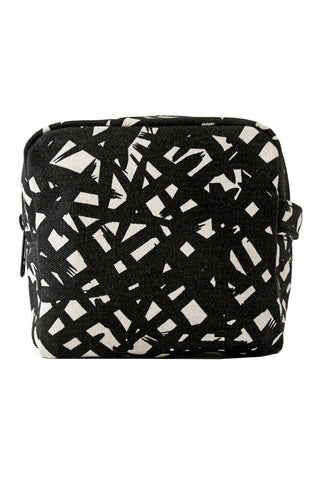 See Design Small Cosmetic Bag Bales Black/White