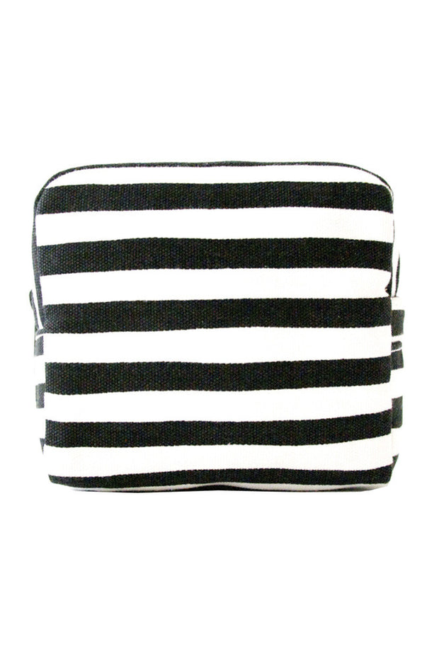 See Design See Design Small Cosmetic Bag Karma Stripe Black/White - KIITOSlife