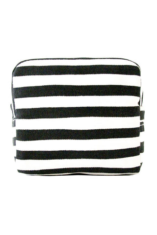 See Design Small Cosmetic Bag Karma Stripe Black/White
