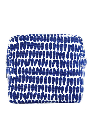 See Design Small Cosmetic Bag Seeds Navy/White