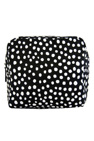 See Design Small Cosmetic Bag Spots Black/White