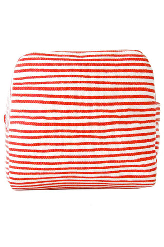 See Design Small Cosmetic Bag Strings Red/White