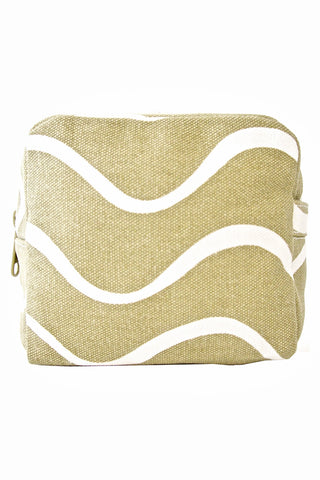 See Design Small Cosmetic Bag Wave Beige/White