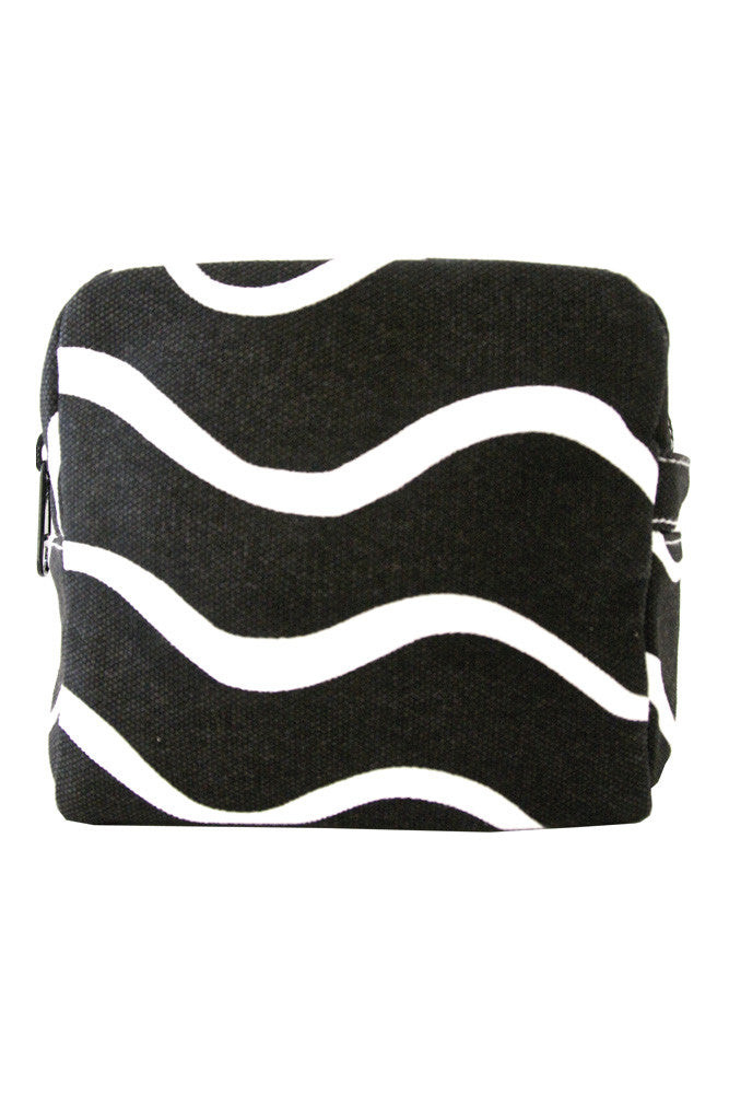 See Design See Design Small Cosmetic Bag Wave Black/White - KIITOSlife