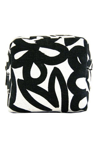 See Design Small Cosmetic Bag Woods Black/White