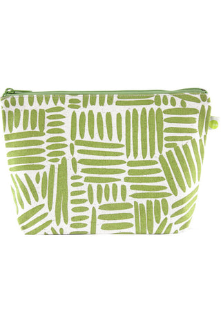 See Design Travel Pouch Large Bag Path Green/White