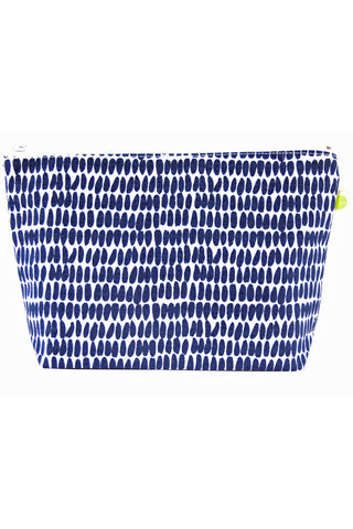 See Design Travel Pouch Large Bag Seeds Navy/White