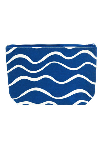 See Design Travel Pouch Large Bag Wave Navy/White