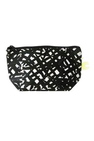 See Design Travel Pouch Small Bales Black/White
