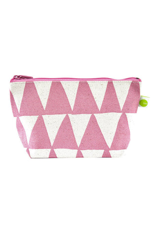 See Design Travel Pouch Small Bag Triangle Mauve/White