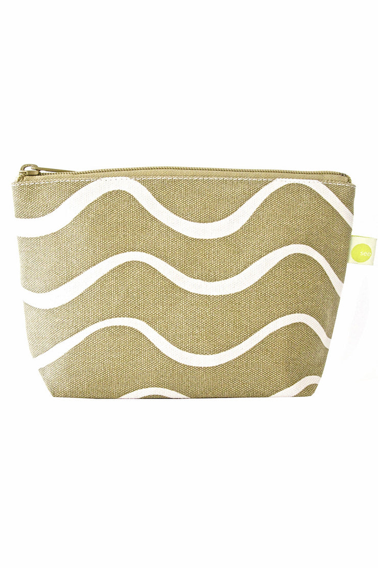 See Design See Design Travel Pouch Small Bag Wave Beige/White - KIITOSlife