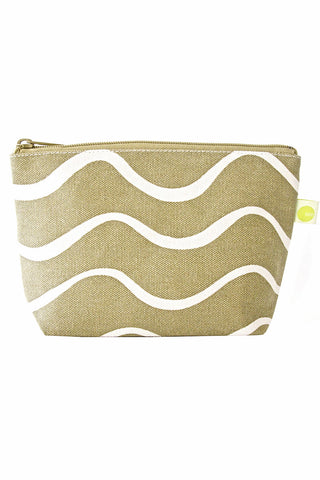 See Design Travel Pouch Small Bag Wave Beige/White
