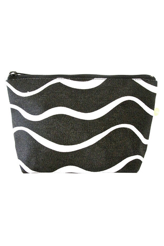 See Design Travel Pouch Small Bag Wave Black/White