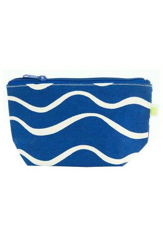 See Design Travel Pouch Small Bag Wave Navy/White