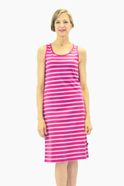 Ratia Short Striped Tank Dress Pink/Grey