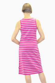 Ristomatti Ratia Short Striped Tank Dress Pink/Grey