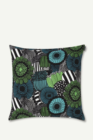 "Marimekko Pieni Siirtolapuutarha 20"" Pillow Cover Green/Black/White"