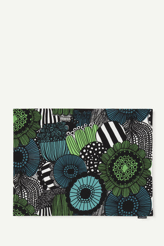 Marimekko Siirtolapuutarha Acrylic Coated Placemat Green/White/Black