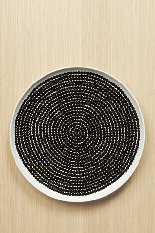 Marimekko Rasymatto Dinner Plate Black/White
