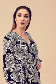 Ratia Leskenlehti Viima Dress Black/White