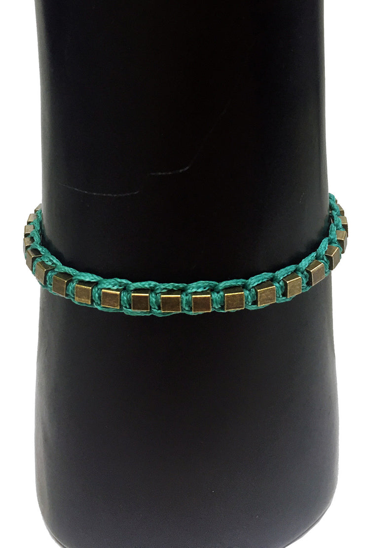 Mandy Campio Blocks Bracelet Teal
