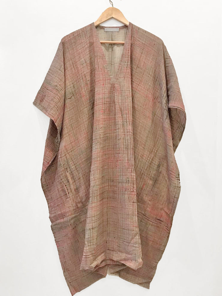 Nest Factory Kaftan w/Pockets Red Crosshatch
