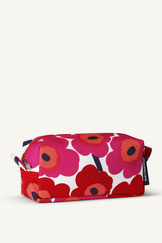 Marimekko Taimi Mini-Unikko Cosmetic Bag White/Red/Pink