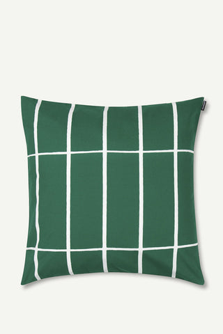 "Marimekko Tiiliskivi 20"" Pillow Cover Green/White"