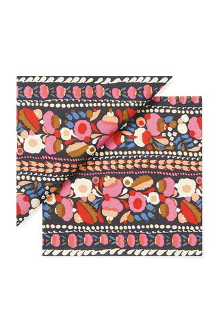 Marimekko Tuppurainen Cocktail Napkins Dark Blue/Pink