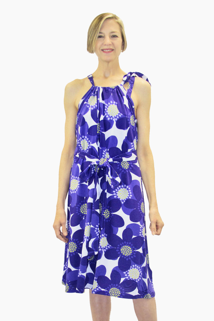 Ratia Sinivuokko Tyyni Dress Blue/White