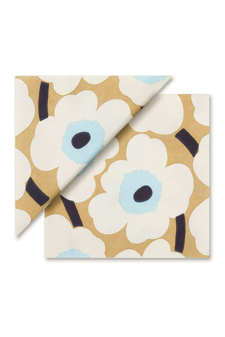 Marimekko Unikko Cocktail Napkins Cream/Gold