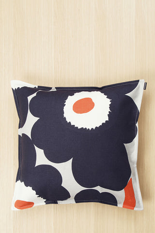 "Marimekko Unikko 20"" Pillow Cover Dark Grey/Orange"