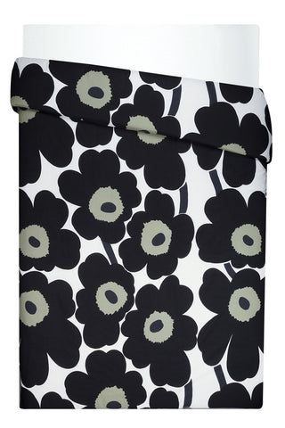 Unikko Euro Bedding White/Black