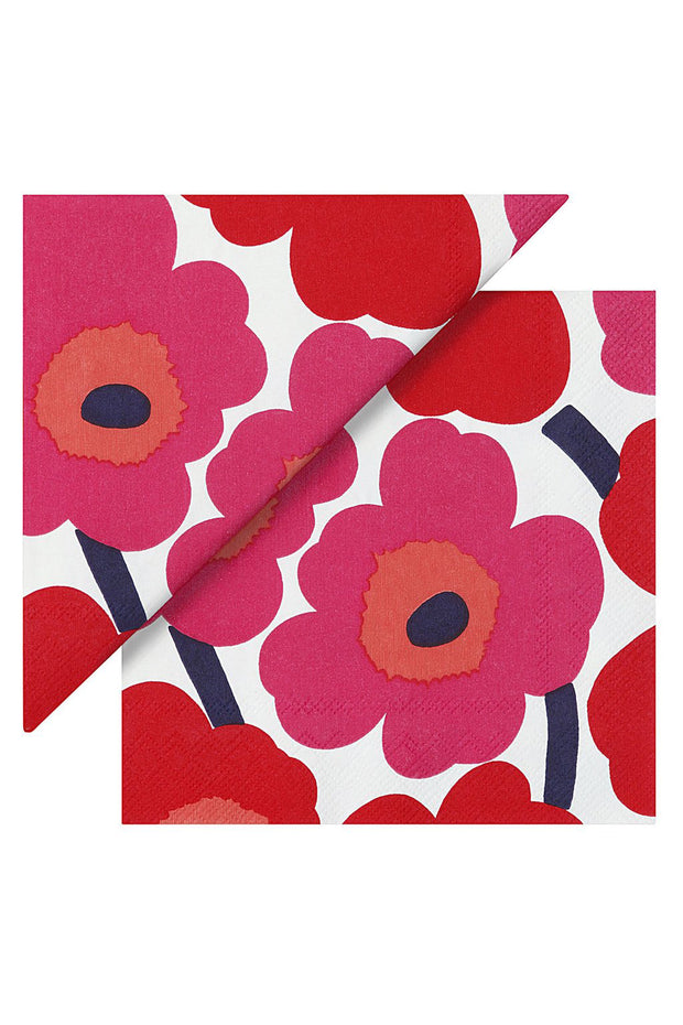 Marimekko Unikko Cocktail Napkins Red/White