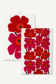 Marimekko Unikko Tea Towel Pair Red/White