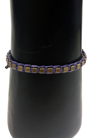 Mandy Campio Blocks Bracelet Violet