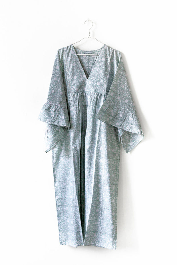 Nest Factory Block Print Maxi Dress Mint