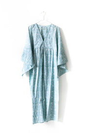 Nest Factory Block Print Maxi Dress Aqua