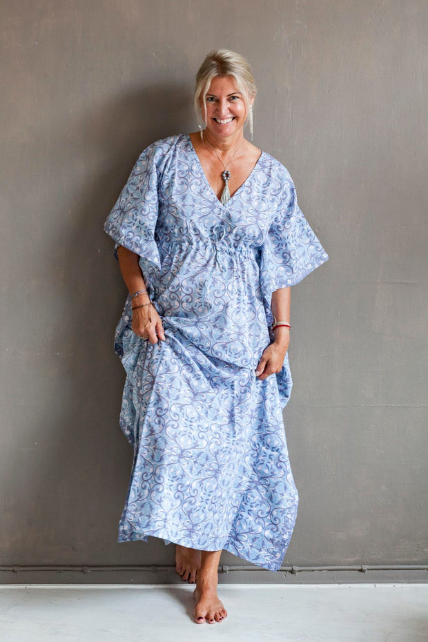 Nest Factory Block Print Kaftan Purple/Blue