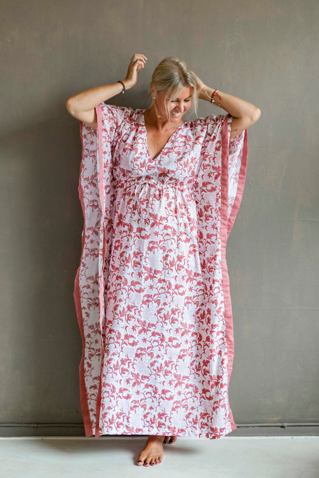 Nest Factory Block Print Kaftan Rose