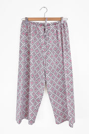 Nest Factory Block Print Capri Pants Lilac