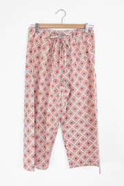 Nest Factory Block Print Capri Pants Red
