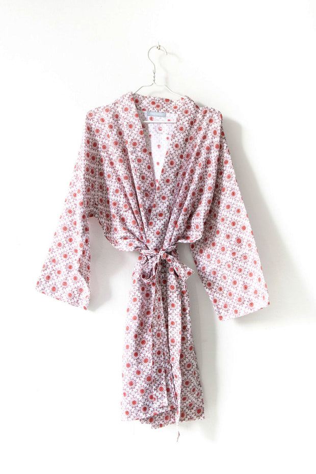 Nest Factory Block Print Robe Red